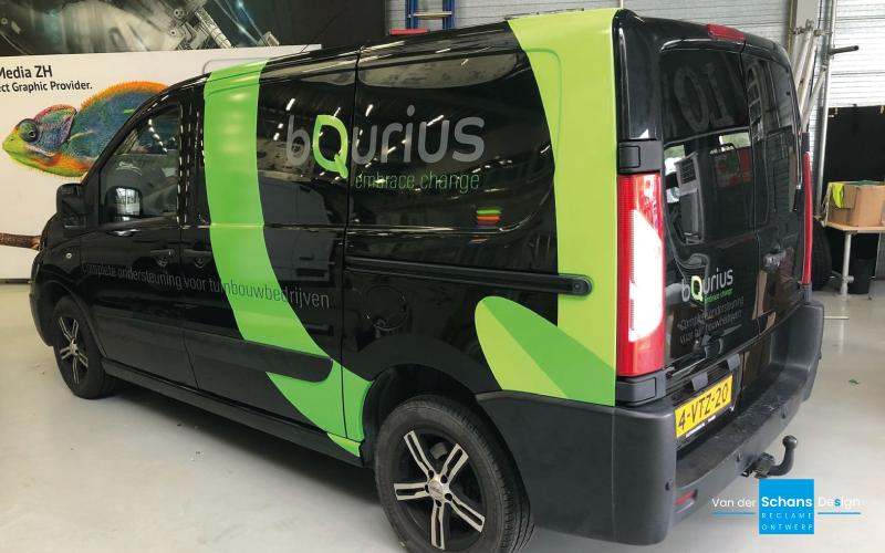 Autobelettering BQurius - Van der Schans Design - Den Hoorn 2