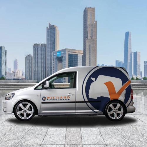 Autobelettering Westland Autoschade - Van der Schans Design - Den Hoorn