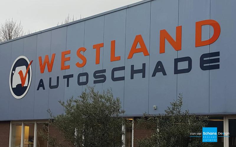 Gevelreclame Westland Autoschade - Van der Schans Design -Den Hoorn 2