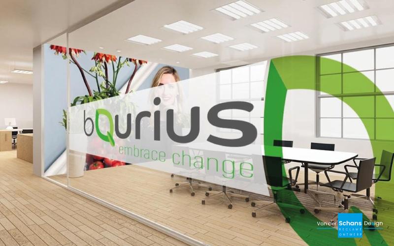 Ontwerp Raambelettering BQurius - Van der Schans Design - Den Hoorn