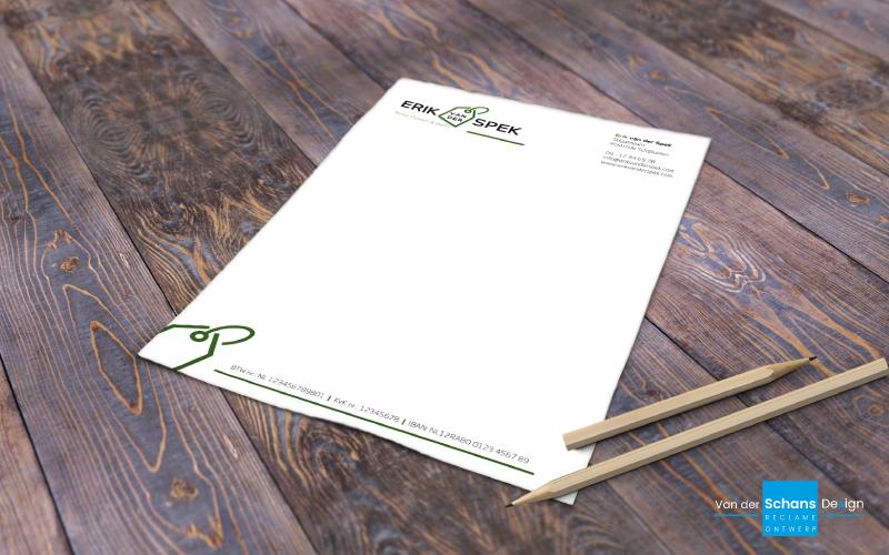 Briefpapier Ontwerp - Erik van der Spek - Van der Schans Design - Den Hoorn