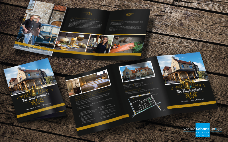Folder Ontwerp - De Buytenplaets - Van der Schans Design - Den Hoorn