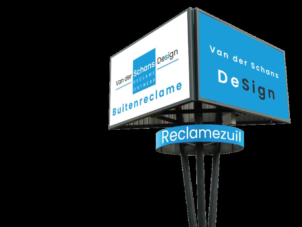 Buitenreclame - reclamezuil - Van der Schans Design - 01