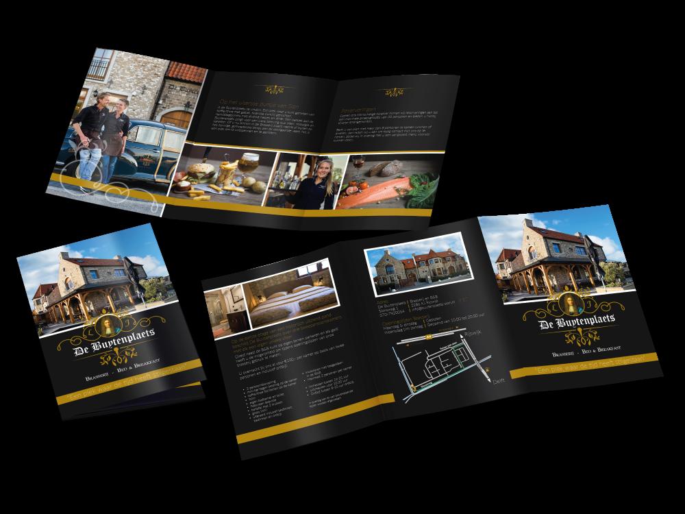Drukwerk - Folder - ontwerp - Van der Schans Design - de Buytenplaets